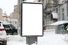 Blank Advertising Board On Cit...