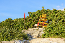 Lifeguard Tower On The Beach W...