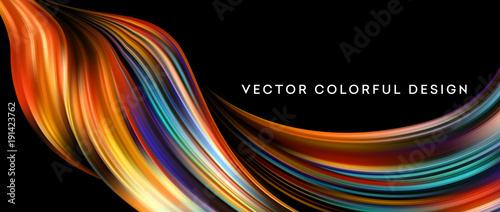 Fototapeta 3d Abstract colorful fluid design. Vector illustration obraz