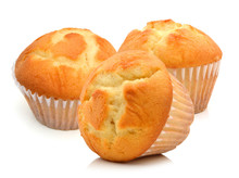 Tasty Muffin Cake, Isolated On...