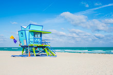 Miami Beach Lifeguard Stand In...