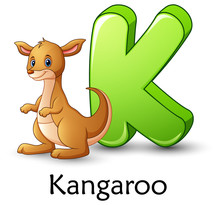 Letter K Is For Kangaroo Carto...