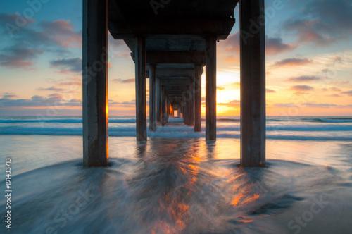 Scripps Pier Sunset in La Jolla - San Diego, California Canvas-taulu