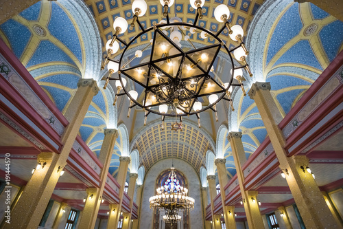 Fotografia Interior view of Grand Synagogue of Edirne,Turkey