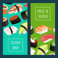Vector Cartoon Sushi Vertical ...