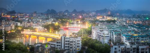 Foto op Aluminium Guilin Li River and Karst mountains Guilin, Yangshuo