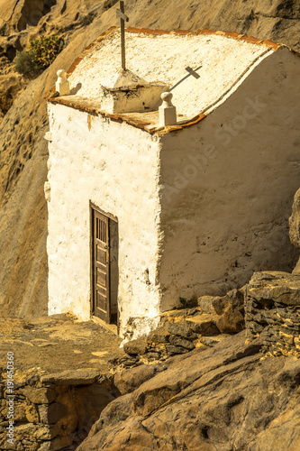 Papiers peints Iles Canaries small white church in the mountains - Canary islands