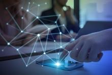 Communication Network Concept.