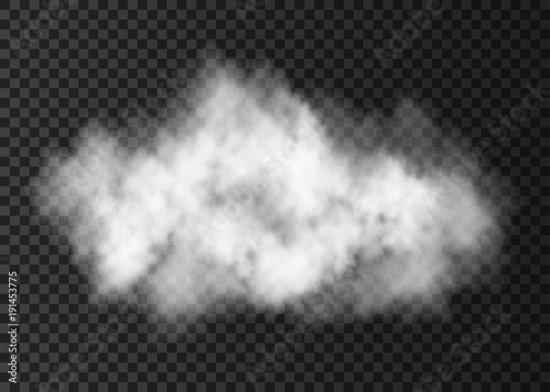 Photo sur Aluminium Fumee White smoke explosion isolated on transparent background.
