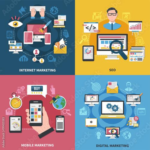 Internet Marketing Design Concept Canvas Print