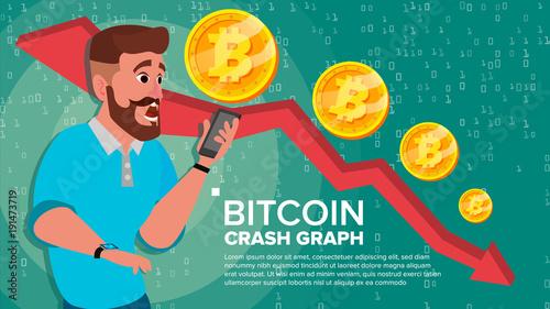 Photo Bitcoin Crash Graph Vector