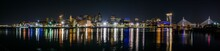 Night Skyline Of Boston