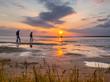 canvas print picture - Wattwanderung an der Nordsee