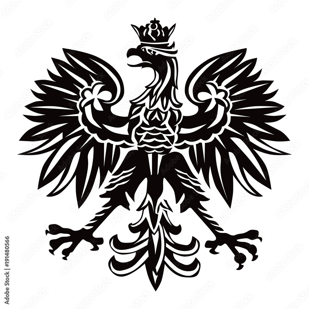 Fototapeta Polish national emblem as vector illustration on white background.