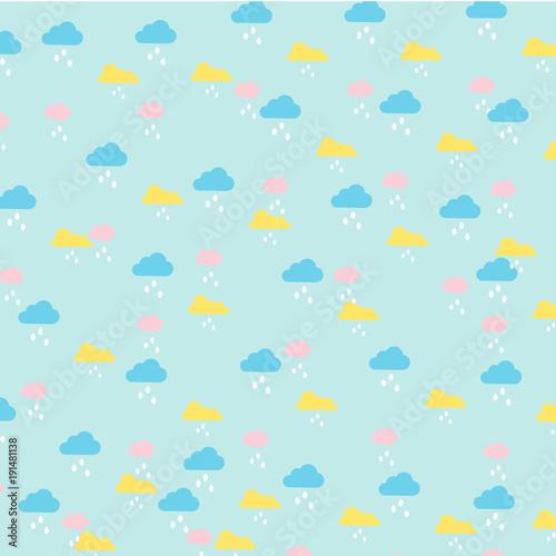 wektor-dzieci-wzor-chmury-i-deszcz-w-pastelowym-kolorze