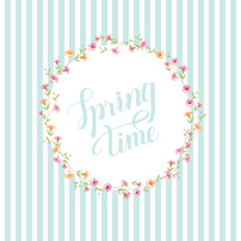 Spring Time Concept Of Card Wi...