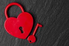 Heart Shaped Padlock. Valentin...