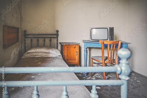Camera da letto con TV Hotel Miss Italia Gran Milan - Buy this stock ...