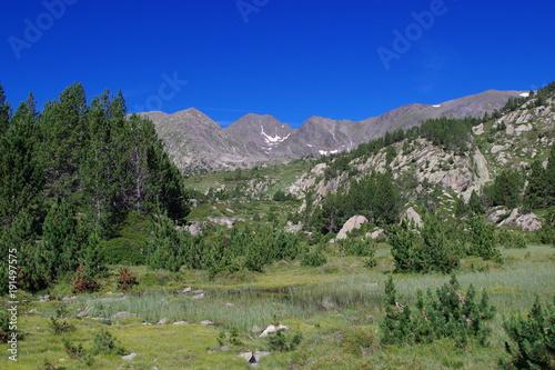 La pose en embrasure Bleu fonce Paysages de montagne