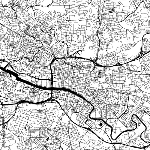 Glasgow Downtown Vector Map