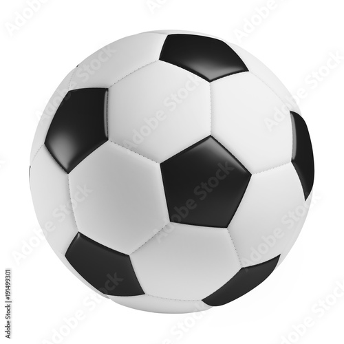 Spoed Foto op Canvas Bol soccer ball, 3d rendered illustration, clipping path included