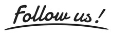 """Follow Us"" Handwriting, Vecto..."