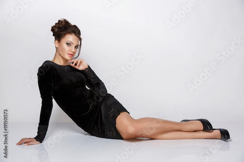 Beautiful Attractive And Elegant Young Woman With Makeup And