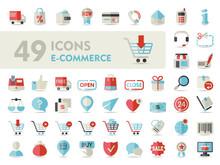 E-commerce Set Vector Icons Sh...