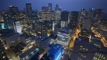 Vancouver Night Skyline, Aerial View