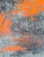 Grey Background With Orange Sp...