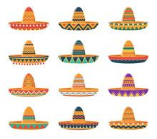 Set Of Sombrero Hats