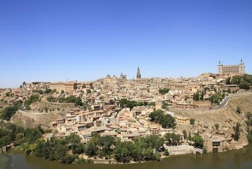 Fototapeta na wymiar Toledo old city general view. Travel across Spain.