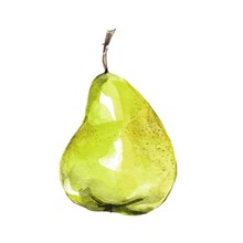 Pear, Isolated On White Backgr...