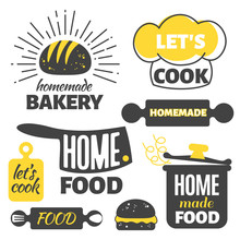 Retro Cooking Badges - Homemad...