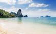 Popular travel tropical karst rocks Tonsai beach