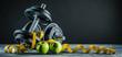 canvas print picture - Fitness Sport (Krafttraining hintergrund)