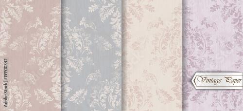 Valokuva  Baroque pattern trendy color texture set Vector
