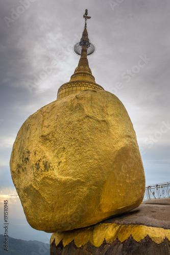 Fotografie, Obraz  Kyaikhtiyo or Kyaiktiyo pagoda, Golden rock in Myanmar.