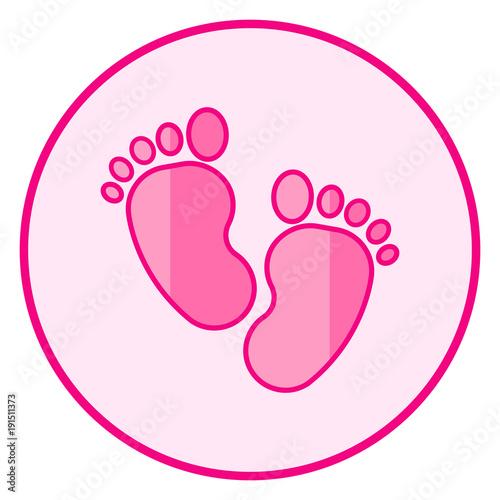 Baby Footprint Art Design