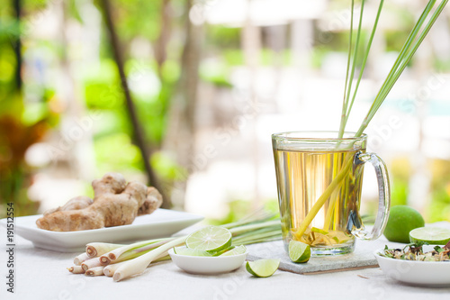 Herbal green tea with lemongrass and ginger.