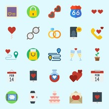 Icons Set About Romance Lifest...