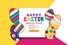 Happy Easter Vector Sale Banne...
