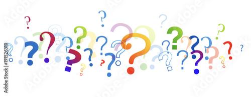 punti interrogativi, domande, domandare Fototapet