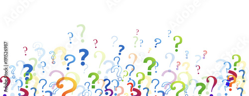 Fotografering  punti interrogativi, domande, domandare