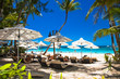 Tropical vacation on White beach at Boracay island , Philippines.