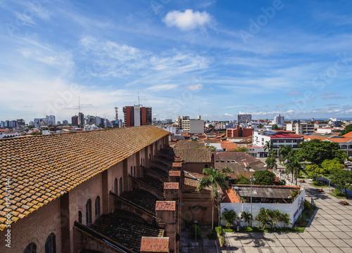 Old Town, elevated view, Santa Cruz de la Sierra, Bolivia Canvas Print