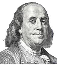 Benjamin Franklin Portrait From Hundred Dollars Banknote