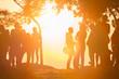 people see sunset