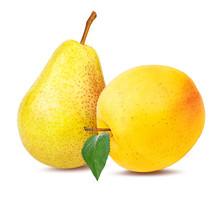 Fresh Yellow Apple Isolated On...