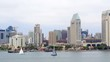 Downtown San Diego and Waterfront by Aerial Drone